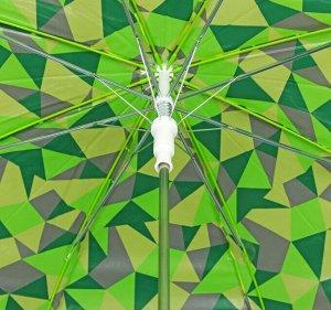 Зонт - трость полуавтоматический «Капли», 8 спиц, R = 57 см, цвет зелёный