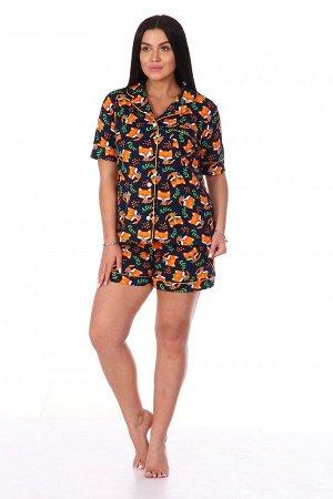 Пижама Ткань: Кулирка; Состав: 100% хлопок; Размеры: 42-44; Цвет: Лисята