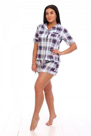 Пижама Ткань: Кулирка; Состав: 100% хлопок; Размеры: 42-52; Цвет: Клетка