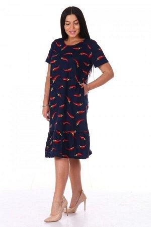 Платье Ткань: Кулирка; Состав: 100% хлопок; Размеры: 44, 46, 48, 50, 52, 54