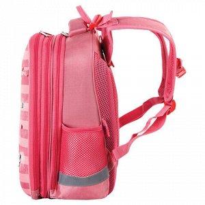 """Ранец ЮНЛАНДИЯ EXTRA, с дополнительным объемом, """"Pink sneakers"""", 38x29x18 см, 229928"""