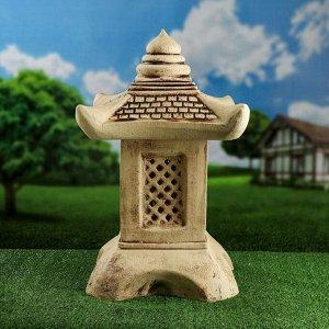 Садовый светильник ''Китайский домик'', шамот, 42 см, без элемента питания