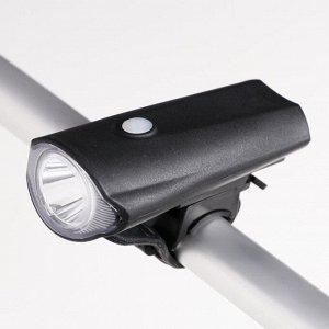 """Фонарь велосипедный аккумуляторный """"Беркут"""" c креплением, зарядка от USB, 10х5х4.5 см"""