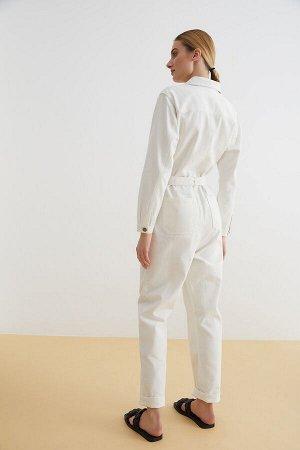 Комбинезон джинсовый жен. BURNET белый