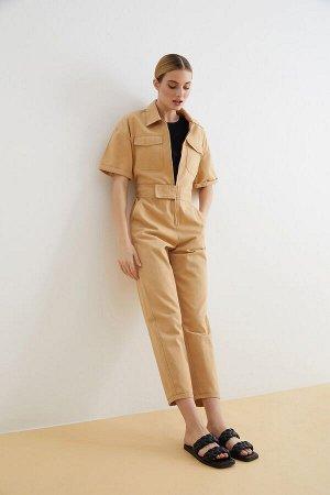 Комбинезон джинсовый жен. KALIPSO песочный