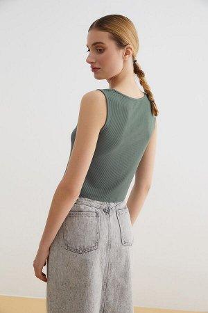 Блузка-топ жен. Jacks темно-зеленый