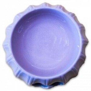 КерамикАрт миска керамическая с полосками 17х6,5см 300 мл, лиловая