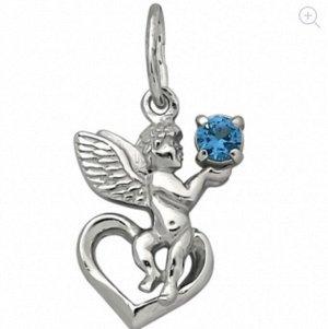 Образ (Ангел Хранитель) из серебра литье