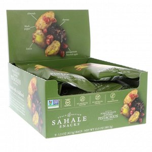 Sahale Snacks, Glazed Mix, фисташки со вкусом натурального граната, 9 пакетиков по 42,5 г (1,5 унции) каждый