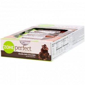 ZonePerfect, Питательные батончики, двойной темный шоколад, 12 батончиков, 1,58 унции (45 г) каждый