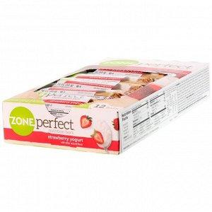 ZonePerfect, Nutrition Bars, клубничный йогурт, 12 батончиков, весом 50 г (1,76 унции) каждый