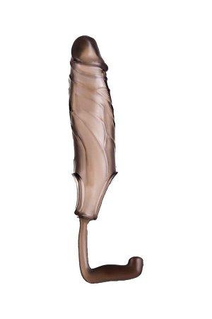 Стимулирующая расширяющая насадка на пенис с кольцом для мошонки XLover