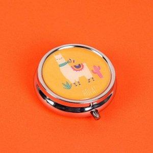 Таблетница «Ламы», с зеркальной поверхностью, 3 секции, цвет МИКС