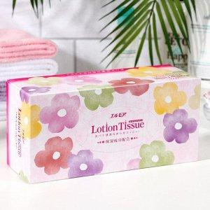Бумажные двухслойные салфетки с экстрактом малины Kami Shodji Ellemoi Lotion, 2 слоя, упаковка 200 шт.
