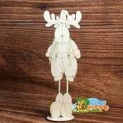 Лосик Лосик (продается в палетках), габарит в собранном виде: 10*29*4 см, размер статуэтки: 29*10 см, размер подставки: 7,5*4 см, материал фанера 4 мм.