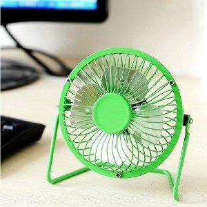 Портативный вентилятор USB Mini Fan, мелалл