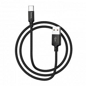"Кабель HOCO USB на Type-C ""X14 Times speed"" 1M зарядка и передача данных"