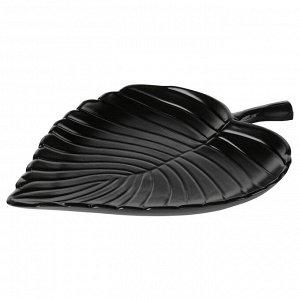 KNASTRIGT КНАСТРИГТ Украшение, лист, черный22x16 см
