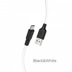 Кабель HOCO USB на Micro-USB X21 Plus зарядка и передача данных
