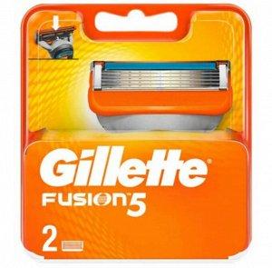 GILLETTE FUSION Сменные кассеты для бритья 2шт