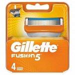 GILLETTE FUSION Сменные кассеты для бритья 4шт