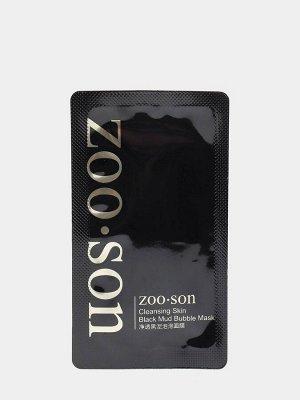 ZOO SON Очищающая кислородно-пузырьковая маска Black Mud