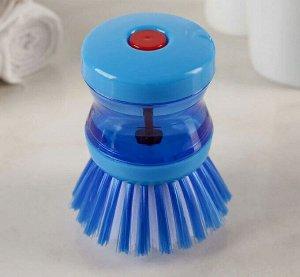 Щётка с дозатором для моющего средства, цвет МИКС
