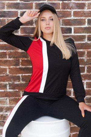 Костюм спортивный К 077 (Черно-красный)