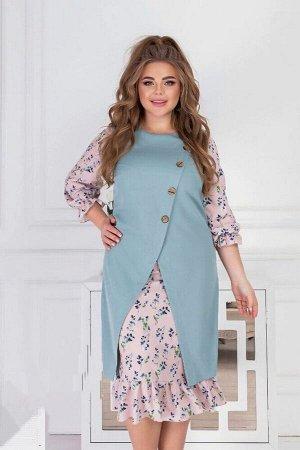 Платье Ткань: трикотаж с штапелом