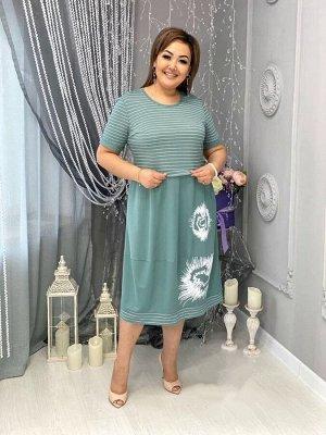 Платье Длина 112 см ОГ 52 р 102 см 54 р 106 см 56 р 110 см 58 р 114 см плюс тянется на 2-3 см
