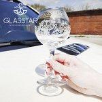 """Набор 6 фужеров Glasstar """"Барокко"""" / 280 мл"""