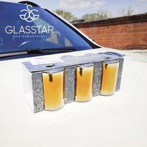 "Набор 6 стопок Glasstar ""Черное золото"" / 50 мл"