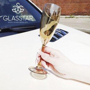 """Набор 6 бокалов Glasstar """"Мед"""" / 170 мл"""