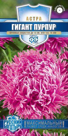 Семена Цветы Астра Гигант пурпур 0,1г Гавриш