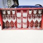 """Набор 18 предметов Glasstar """"Бабочки"""" (6 бокалов + 6 стаканов + 6 стопок)"""