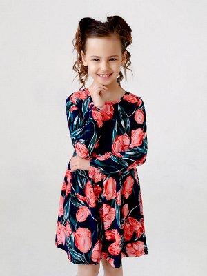 Платье Эля тюльпаны