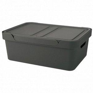 Ящик с крышкой универсальный LUXE 380х276х140 мм 12л