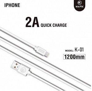 Кабель MARK Quick Charge USB на Lightning зарядный кабель