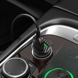 """Автомобильное зарядное устройство """"Z39 Farsighted"""" QC3.0 + Кабель Type C 1M"""