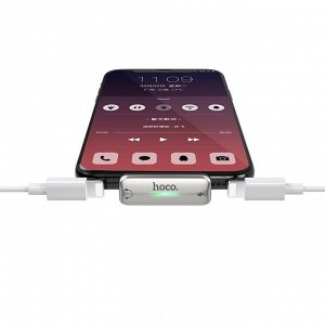 """Адаптер """"LS27"""" цифровой аудио конвертер с двойным Lightning"""