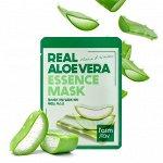 Успокаивающая тканевая маска для лица с экстрактом алоэ FarmStay Real Aloe Vera Essence Mask, 23 мл