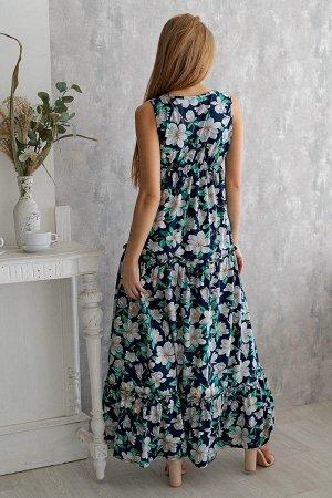 Платье П 148 (Белые цветы)