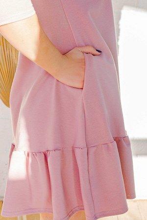 Платье П 175 (Сухая роза)