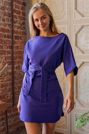 Платье с поясом П 226 (Фиолетовый)