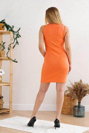 Платье 02-007 (Оранжевое)