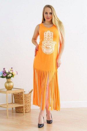 Платье рванка П 213 (Оранжевый неон)