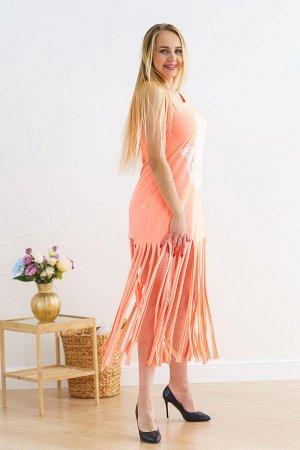 Платье рванка П 213 (Персик)