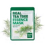 Противовоспалительная тканевая маска для лица с экстрактом чайного дерева FarmStay Real Tea Tree Essence Mask, 23мл