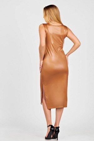 Платье П 007 (Коричневый)