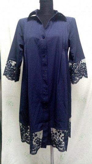 Рубашка с гипюровой оборкой